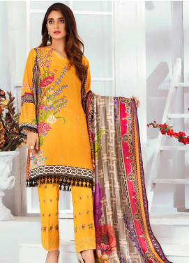 Noor Jahan Embroidered Karandi Unstitched 3 Piece Suit NJ19WK 7 - Winter Collection