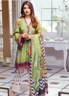 Noor Jahan Embroidered Karandi Unstitched 3 Piece Suit NJ19WK 8 - Winter Collection