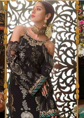 Noor By Saadia Asad Embroidered Chiffon Unstitched 3 Piece Suit NSA18W 04 Jahanara - Wedding Collection