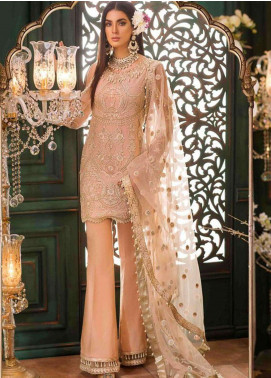 Noor By Saadia Asad Embroidered Chiffon Unstitched 3 Piece Suit NSA18W 08 Sophia - Wedding Collection
