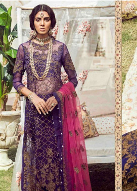 Noor By Saadia Asad Embroidered Chiffon Unstitched 3 Piece Suit NSA18W 09 Raniya - Wedding Collection