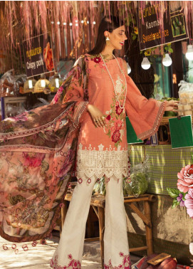 Noor by Saadia Asad Embroidered Lawn Unstitched 3 Piece Suit NSA19L 2B - Spring / Summer Collection