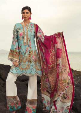 Noor by Saadia Asad Embroidered Lawn Unstitched 3 Piece Suit NSA19L 6B - Spring / Summer Collection