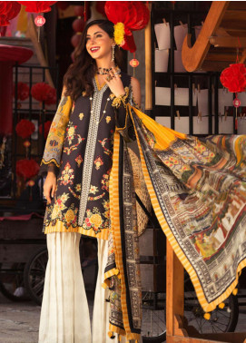 Noor by Saadia Asad Embroidered Lawn Unstitched 3 Piece Suit NSA19L 7A - Spring / Summer Collection