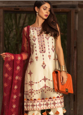 Noor by Saadia Asad Embroidered Lawn Unstitched 3 Piece Suit NSA19L 9B - Spring / Summer Collection