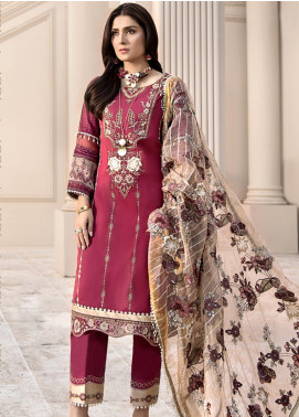 Noor by Saadia Asad Embroidered Lawn Unstitched 3 Piece Suit SA20NL D11 B - Luxury Collection