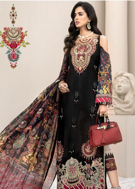 Noor by Saadia Asad Embroidered Lawn Unstitched 3 Piece Suit SA20NL D12 A - Luxury Collection