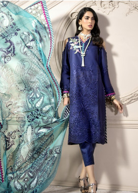 Noor by Saadia Asad Embroidered Lawn Unstitched 3 Piece Suit SA20NL D2 B - Luxury Collection