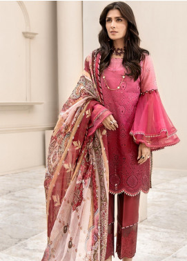 Noor by Saadia Asad Embroidered Lawn Unstitched 3 Piece Suit SA20NL D4 A - Luxury Collection