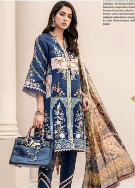Noor by Saadia Asad Embroidered Jacquard Unstitched 3 Piece Suit SA20NL D5 A - Luxury Collection