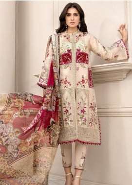Noor by Saadia Asad Embroidered Jacquard Unstitched 3 Piece Suit SA20NL D5 B - Luxury Collection