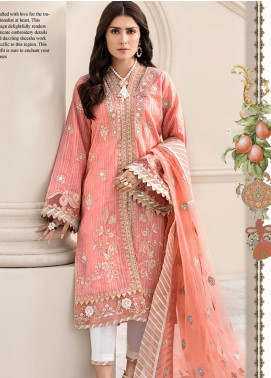 Noor by Saadia Asad Embroidered Lawn Unstitched 3 Piece Suit SA20NL D6 B - Luxury Collection