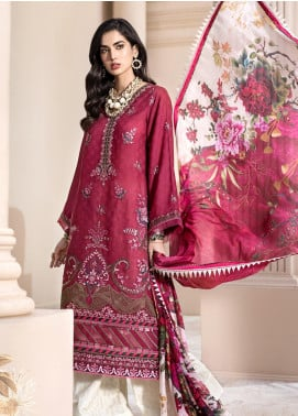 Noor by Saadia Asad Embroidered Jacquard Unstitched 3 Piece Suit SA20NL D8 A - Luxury Collection