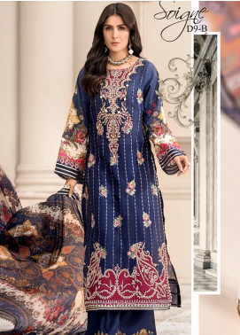 Noor by Saadia Asad Embroidered Jacquard Unstitched 3 Piece Suit SA20NL D9 B - Luxury Collection