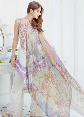 Saadia Asad Embroidered Lawn Unstitched 3 Piece Suit 11 - Spring / Summer Collection