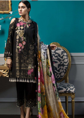 Noor By Saadia Asad Embroidered Jacquard Unstitched 3 Piece Suit NO18W 4 Soiree - Winter Shawl Collection