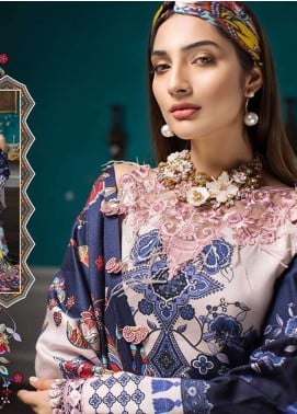 Noor By Saadia Asad Embroidered Linen Unstitched 3 Piece Suit NO18W 5 Pappillon - Winter Shawl Collection