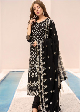 Noor by Saadia Asad Embroidered Linen Unstitched 3 Piece Suit NO19W 1 - Winter Collection