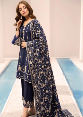 Noor by Saadia Asad Embroidered Linen Unstitched 3 Piece Suit NO19W 5 - Winter Collection