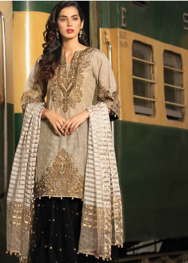 Noorma Kamal Embroidered Missouri Unstitched 3 Piece Suit NK19F 02 OBDISIAN DOVE - Festive Collection