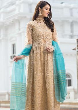 Noorma Kamal Embroidered Net Unstitched 3 Piece Suit NK19SW 01 Fleur De Lis - Wedding Collection