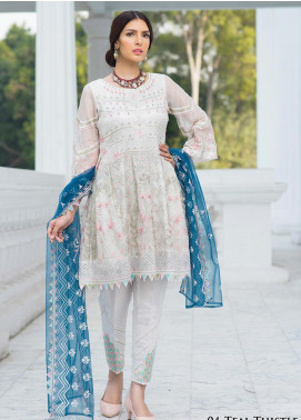 Noorma Kamal Embroidered Missouri Unstitched 3 Piece Suit NK19SW 04 Teal Thistle - Wedding Collection