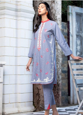 Takhleek By Hijab Omer Embroidered Cambric Stitched 2 Piece Suit TK20NR 21WDE2P11