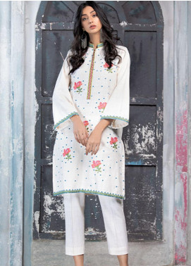 Takhleek By Hijab Omer Embroidered Khaddar Stitched 2 Piece Suit TK20NR 21WDE2P13