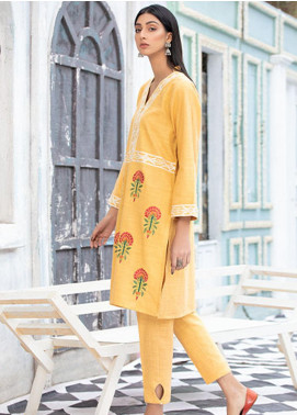 Takhleek By Hijab Omer Embroidered Khaddar Stitched 2 Piece Suit TK20NR 21WDE2P14