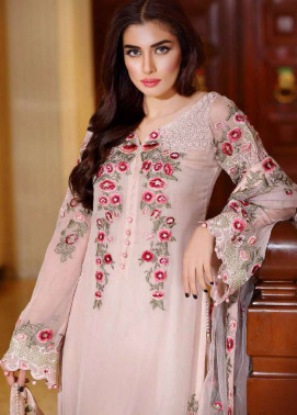 Noor by Saadia Asad Embroidered Chiffon Unstitched 3 Piece Suit NS16E2 06