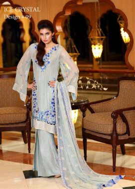 Noor by Saadia Asad Embroidered Chiffon Unstitched 3 Piece Suit NS16E2 09
