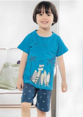 Cotton Net Kids Nightwear 2 Piece NS18K 1188 Blue