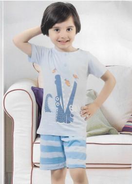 Cotton Net Nightwear for Kids 2 Piece NS18K 1191 SKY BLUE