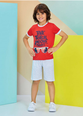 Cotton Net Kids Nightwear 2 Piece NS18K 1211 RED