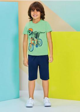 Cotton Net Nightwear for Kids 2 Piece NS18K 1215 GREEN