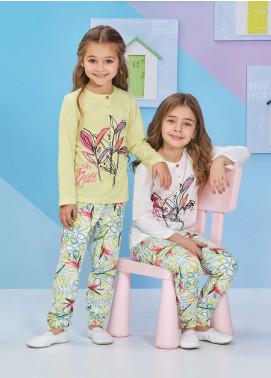 Cotton Net Kids Nightwear 2 Piece NS18K 1252 YELLOW