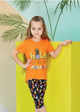 Cotton Net Nightwear for Kids 2 Piece NS18K 1271 ORANGE