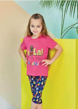 Cotton Net Kids Nightwear 2 Piece NS18K 1271 PINK