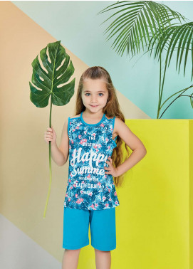 Cotton Net Nightwear for Kids 2 Piece NS18K 1273 GREEN