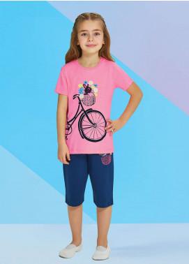 Cotton Net Nightwear for Kids 2 Piece NS18K 1282 PINK