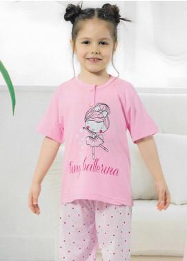 Cotton Net Kids Nightwear 2 Piece NS18K 1341 PINK