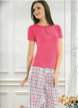 Cotton Net Women Nightwear 2 Piece NS18W 1028 Pink