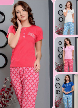 Cotton Net Women Nightwear 2 Piece NS18W 0301 PINK