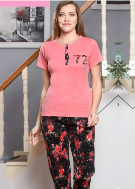 Cotton Net Nightwear for Women 2 Piece NS18W 0308 PINK