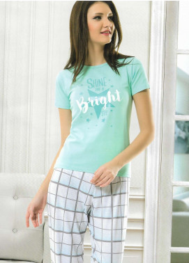 Cotton Net Nightwear for Women 2 Piece NS18W 1025 SKY BLUE