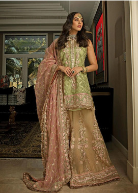 NUR by Sobia Nazir Embroidered Organza Unstitched 3 Piece Suit SN20N 05 - Wedding Collection