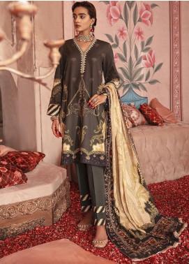 Nur Jahan by Cross Stitch Embroidered Khaddar Unstitched 3 Piece Suit CS20NJ 06 REGAL BOHEMIA - Winter Collection