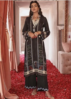 Nur Jahan by Cross Stitch Embroidered Linen Unstitched 2 Piece Suit CS20NJ 16 CHARCOAL SPICE - Winter Collection