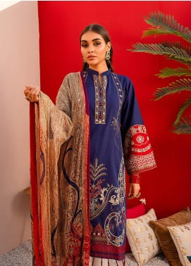 Nureh by Riaz Arts Embroidered Lawn Unstitched 3 Piece Suit NR20EL NJ 05 - Spring / Summer Collection