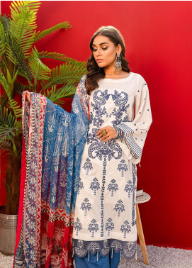 Nureh by Riaz Arts Embroidered Lawn Unstitched 3 Piece Suit NR20EL NJ 07 - Spring / Summer Collection